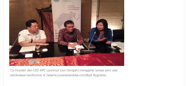 20161119_SuaraMerdeka<br/><h6>Filantropis Indonesia Dominasi Anggota…</h6>