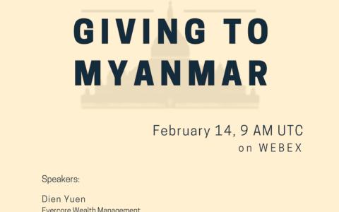 WINGS & Asia Philanthropy Circle Webinar: Giving to Myanmar